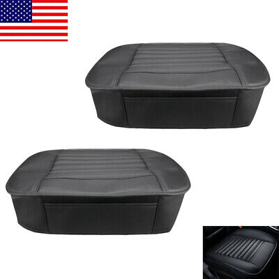 2x Car Front Seat Cover Breathable 3D Full Surround PU Leather Cushion Pad - USA