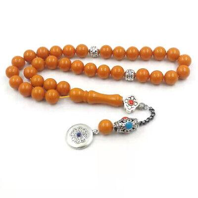 Tasbih Resin have smell Eid gift Muslim Rosary 33 paryer beads islamic bracelet