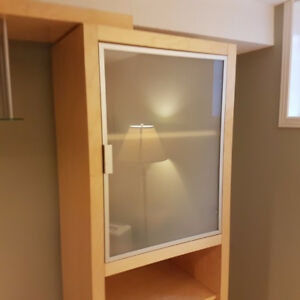 NEW -- Frosted Glass Cabinet DOORS -- orig. $29 -- VERY CHEAP $8