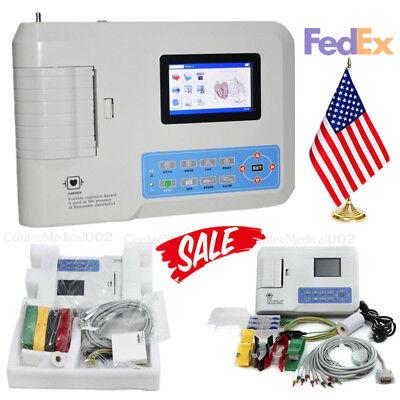 Us Ship Fda Contec Digital 3 Channel Ecg Ekg Machine Electrocardiographusb Sw