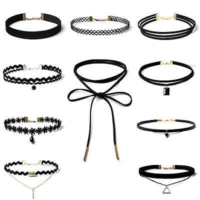 Women Chunky Collar Statement Choker Necklace Pendant Chain Vintage Jewelry -