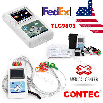 Portable 3-channel 24h Ecg Ekg Holter Analyze System Recorder Monitorsoftware