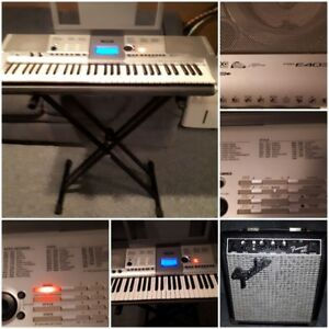 SOLD Yamaha 61 Key Keyboard and Fender Frontman Amplifier