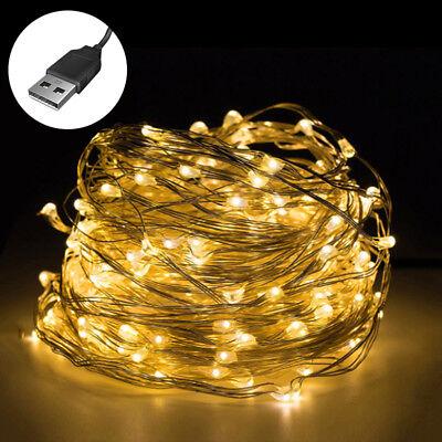 USB LED Lichterkette Lichterkette Weihnachten Zimmerdeko Outdoor Beleuchtung
