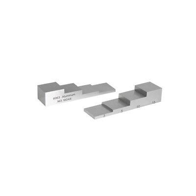 Yushi Aluminum Step Calibration Block Ultrasonic Thickness Testing 3-5-10-15mm
