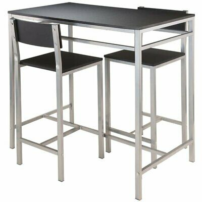 Pemberly Row 3 Piece Counter Height Dining Set in