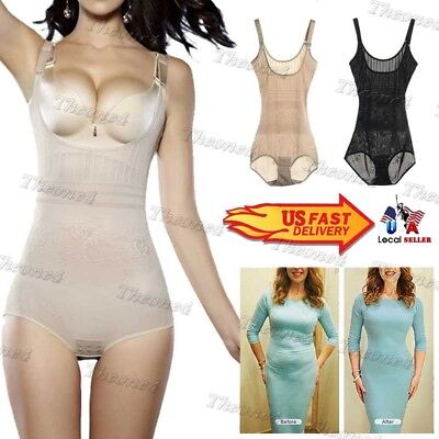 Plus Size Waist Trainer Tummy Girdle Bodysuit Top Vest For Women Weight Loss Usa