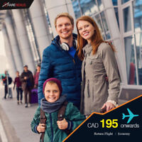 Return Flight Ticket| Vancouver - Calgary | Starting from $195
