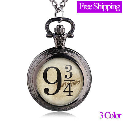 Retro Quartz Pocket Watches with Necklace Chain for Children Boys Best Gift