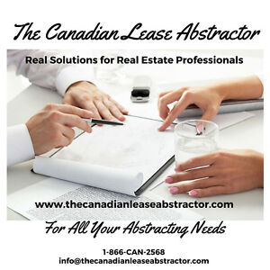 Commercial Lease Abstraction - Peterborough - 1-888-226-2568 Peterborough Peterborough Area image 1