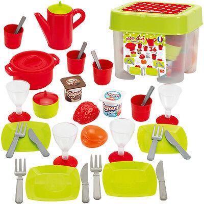 Ecoiffier Box mit Geschirr für Kinderküche