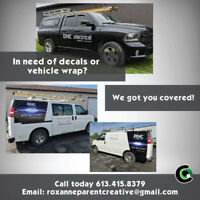 Local marketing, branding, logo, vehicle wrap services & more!
