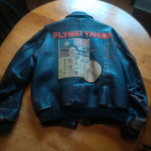 AVIREX Flying Tigers 50th Anniversary Leather Bomber Jacket