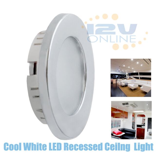 rv led white warm ceiling recessed lights 10x 12v 70 mm ebay
