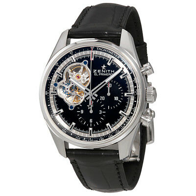 Zenith Chronomaster El Primero Automatic Chronograph Black Dial Mens Watch