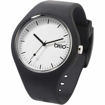 Breo Classic Unisex Sports Watch Black Silicone -