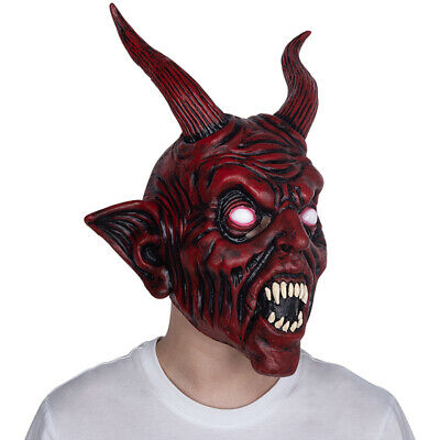 Halloween Devil Mask (Scary Halloween Devil Latex Mask Demon Prop Satan Diablo Halloween Party)