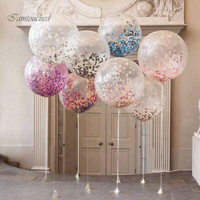Goldfolie Konfetti Latex Ballons Helium Hochzeit Geburtstag Party Dekoration