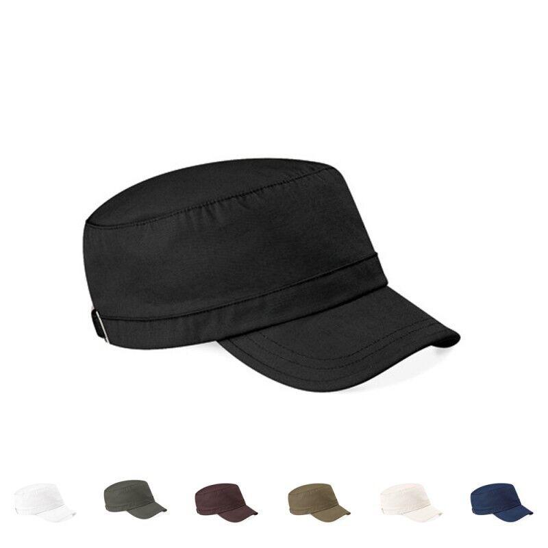 2 x Beechfield Army Cap Military Kuba Kappe Mütze Caps 7 Farben Einheitsgröße