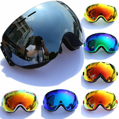 Men Women Anti-Fog Sunglasses Goggles Outdoor Ski Snowboard Protect Eye (Ski Goggles Sunglasses For Men)