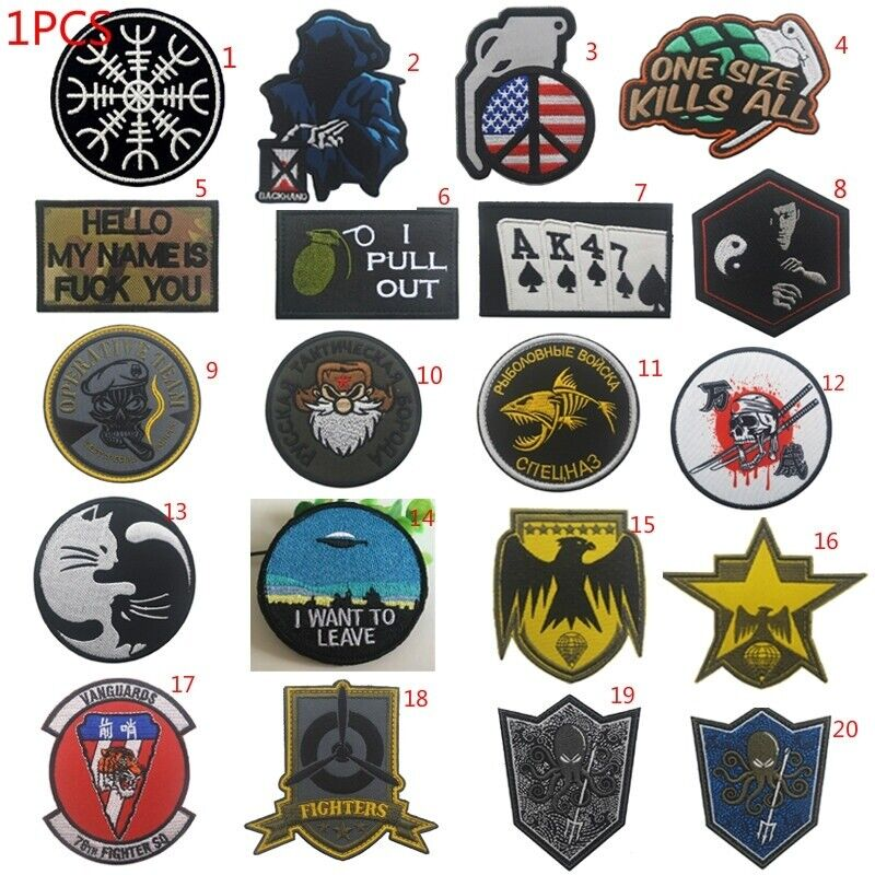 Embroidery Hook Patches Military Tactical Badge Patch Armbands Accessories Crafts
