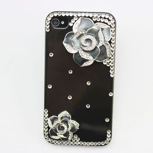 1x bling fashion cute diamond crystal battery hard case cover FOR iphone 4 4g 4s