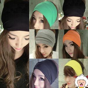 5inch-Women-Colored-Wide-Yoga-Headband-Stretch-Hairband-Elastic-Hair-Band-Turban
