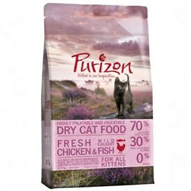 2.5kg bag of Purizon Kitten Chicken & Fish Cat Food 70% meat & grain free. Free Toy included too