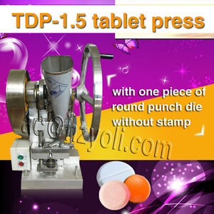 TDP 1.5 PILL PRESS AUtomatic 4 punches (dies) 6000 pills hour