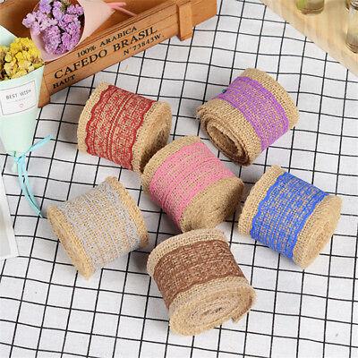 ollen Handgemachte Farbe Lace Jute Gürtel Hochzeit DIY Dekor (Sackleinen Hochzeit Dekor)