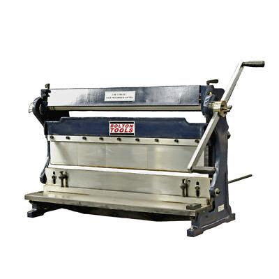 Bolton Tools 24 20 Gauge 3 In 1 Sheet Metal Machine Shear Brake Sbr2420