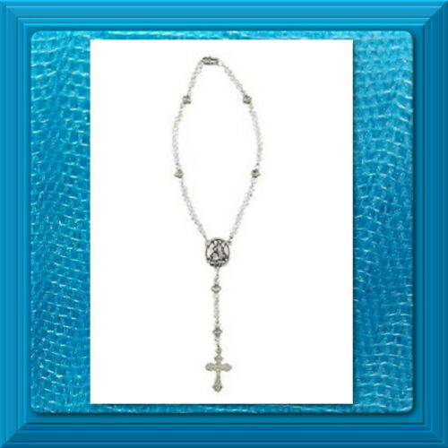Catholic Rosary AUTO Rear View Mirrors GUARDIAN ANGEL   Crystal CLEAR