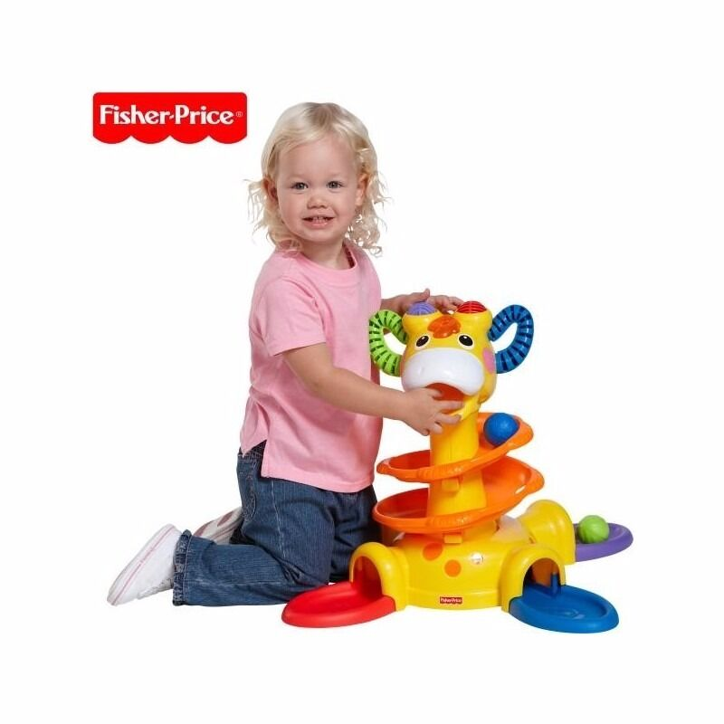 Ball Drop Toy : Fisher price giraffe sit to stand activity tower swirl