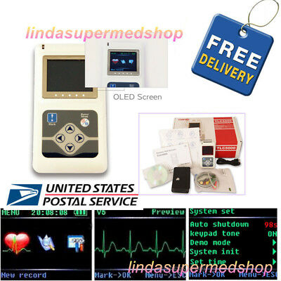 Contec 24h 12 Channel Ecg Dynamic Holter Ekg Monitor Systemsoftware Tlc5000 Usa