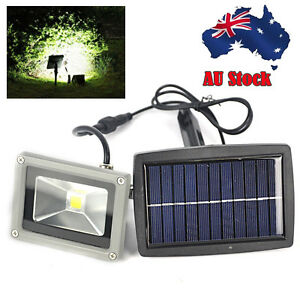 10W LED Solar Powered Flood Light Mount Outdoor Home Yard Garden Lawn Spot Lamp