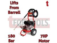 Proplus 7hp Petrol Pressure Washer & Pump180 Bar Pump Lifts From Barrel