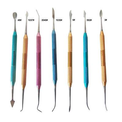 7Pcs Laboratorio dental Cera Yeso Tallado Juego de herramientas Acero inoxidable
