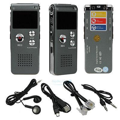 Mini 8GB Digital Voice Recorder 650Hr Dictaphone MP3 Player CL-R30 Portable