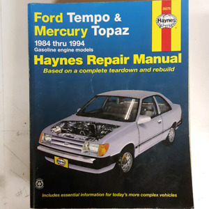 Ford Tempo / Mercury Topaz 1984-1994 Haynes Manual