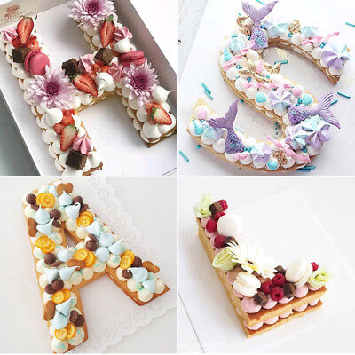 PET Letters Cake Molds Cake Design Decoration Baking Accessories Pastry Tools