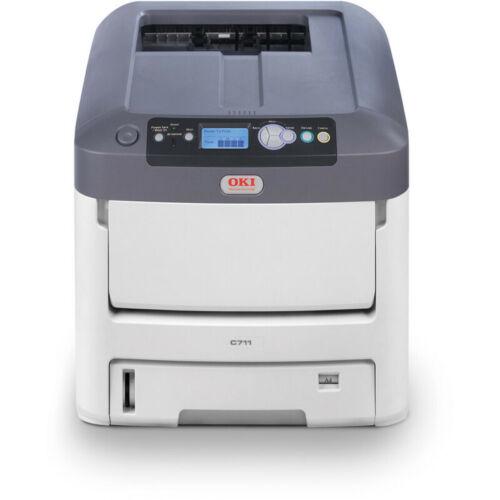 NEW OKI 711WT Digital Color & White Toner Printer on Transfer Media