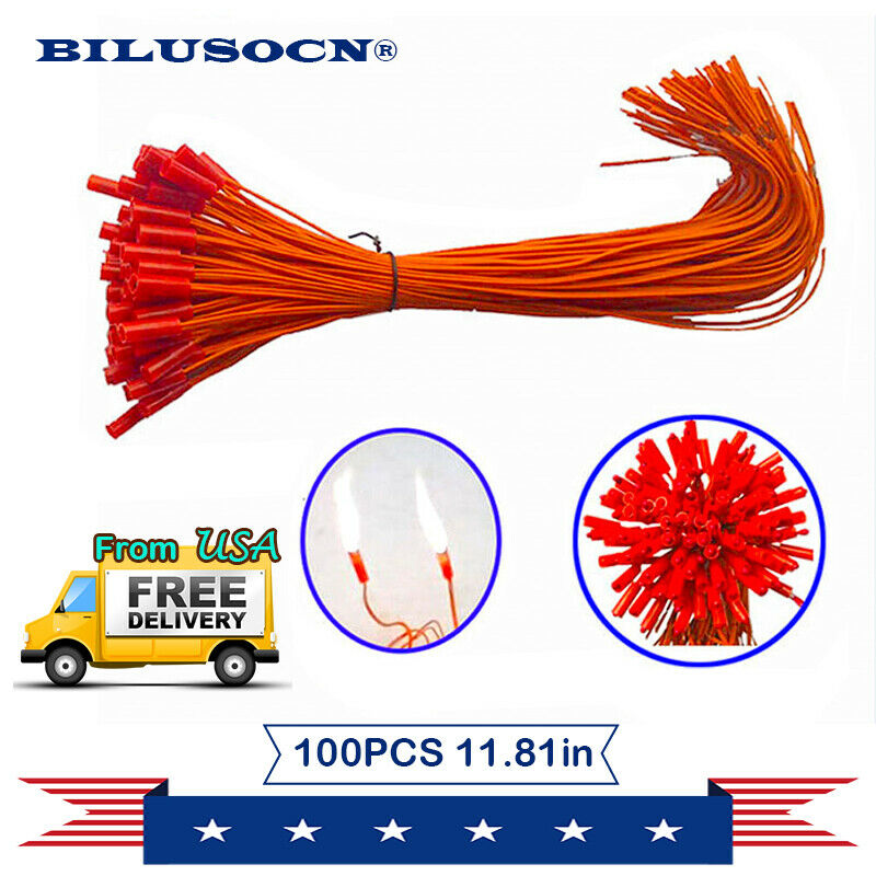 100pcs/lot 11.81in Connecting Wire for Fireworks firing system+Ship From USA