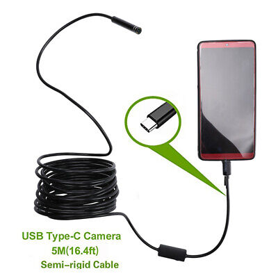 5m 8 Adjustable Led Waterproof Usb-c Borescope Snake Inspection Camera Android