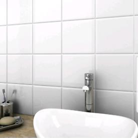 Gloss white tiles NEW Bathroom Storage