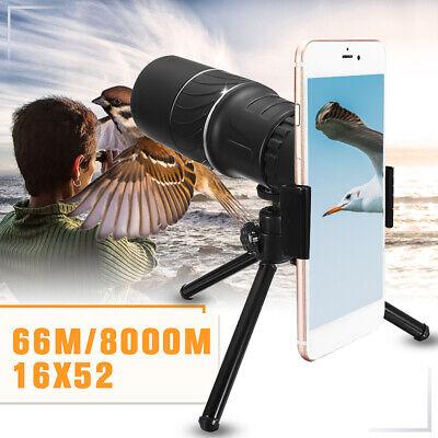 16x52 Zoom Hiking Monocular Telescope Lens Camera Scope Hunt