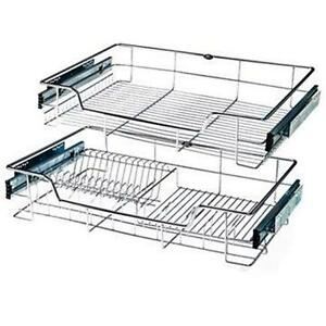 18 inches Double Pull Out Chrome Wire Basket 251303