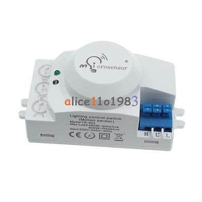 220V 5.8GHz Microwave Movement Motion Detector Sensor Switch For Light Hottest ()