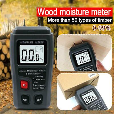 Digital Lcd Humidity Wood Moisture Meter 0-99.9 Firewood Electrode Detector New
