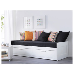 Ikea Brimnes Daybed/ sofabed with 2 Drawers/2 Mattresses