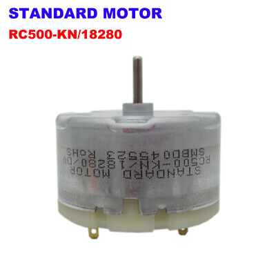 Standard Motor RC500-KN/18280 DC 1.5V-12V 6V 5400RPM Mini 32mm Round Toy Motor